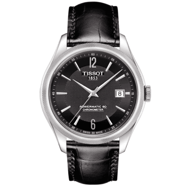 Ballade 41mm Black Dial & Leather Strap Automatic Watch
