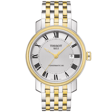 Bridgeport 40mm Silver Roman Dial Two-Tone Men's Bracelet Watch