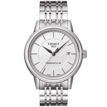 Carson 40mm Steel & White Dial Men's Automatic Watch