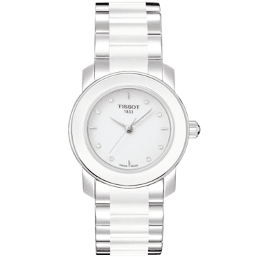 Cera White Ceramic Diamond Dial Ladies Watch