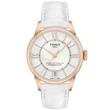 Chemin Des Tourelles 32mm White/Rose Gold Dial Ladies Watch