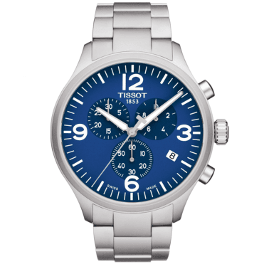 Chrono XL 45mm Blue Dial Men's Chronograph Bracelet Watch