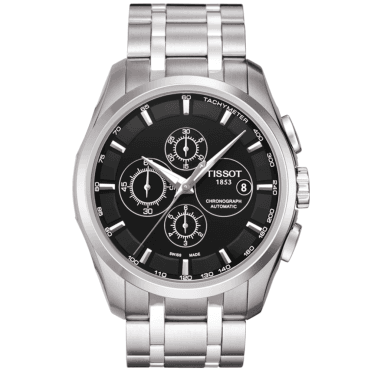 Couturier 43mm Black Dial Automatic Chronograph Watch