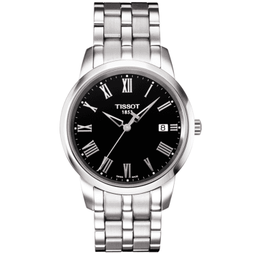 Dream 38mm Stainless Steel & Black Roman Dial Watch