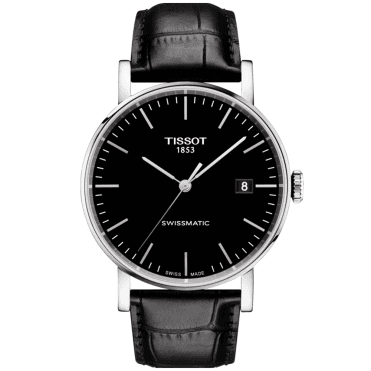 Everytime 40mm Black Dial & Leather Strap Men's Automatic Watch