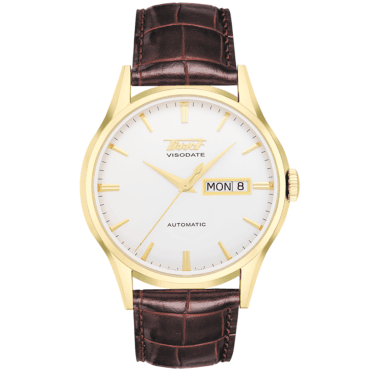 Heritage Visodate 40mm Yellow Gold PVD & Silver Dial Watch