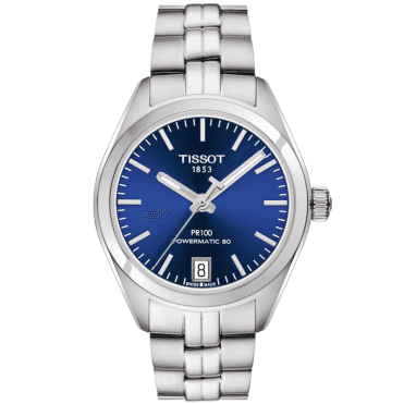 PR100 33mm Blue Dial & Ladies Automatic Bracelet Watch