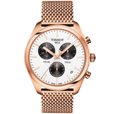 PR100 41mm Panda Dial & Rose Gold PVD Men's Chronograph Watch