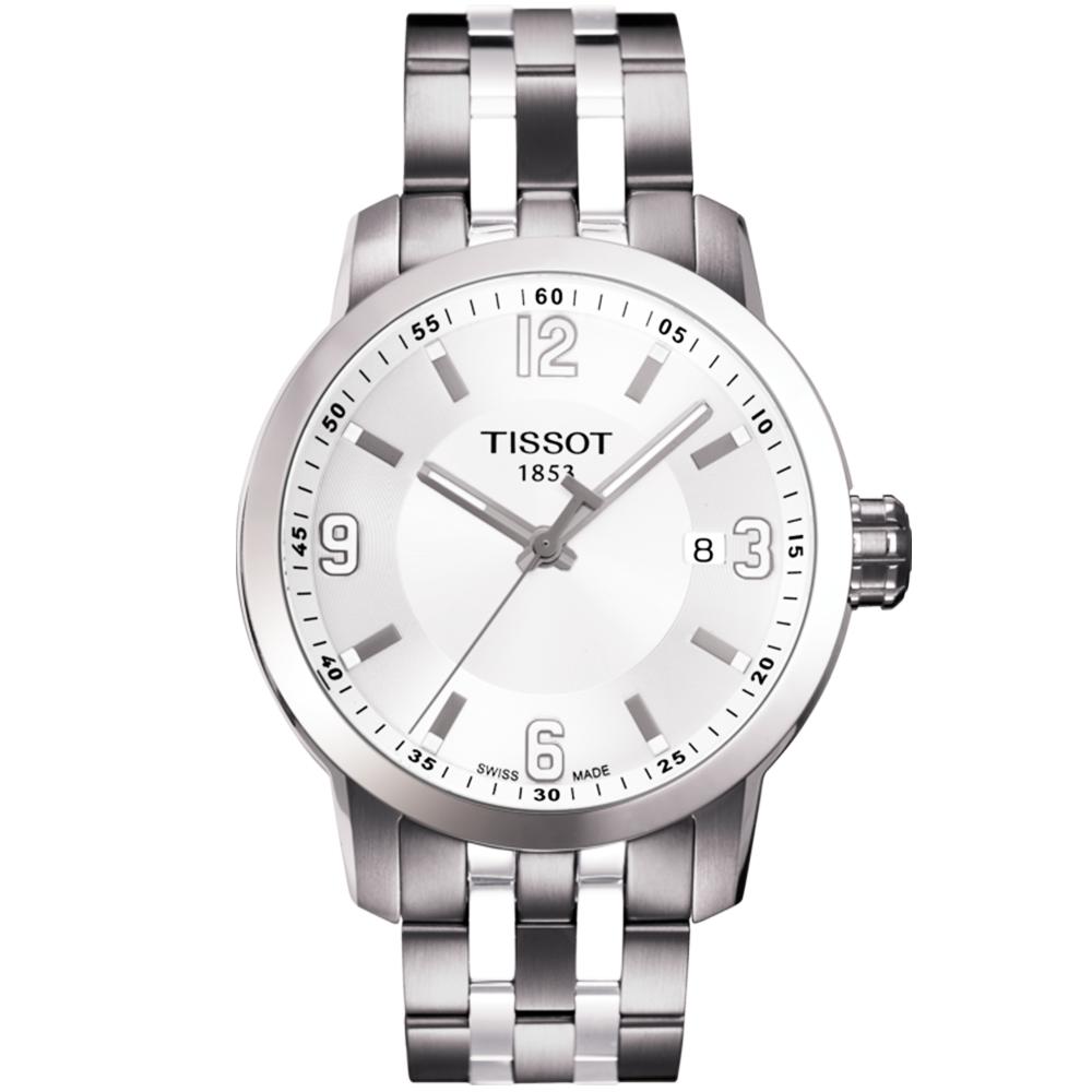 Tissot prc200 39mm silver dial men 39 s bracelet watch for Celebrity tissot watch
