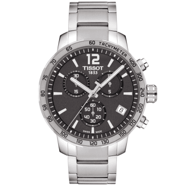 Quickster Anthracite Dial & Bezel Chronograph Bracelet Watch