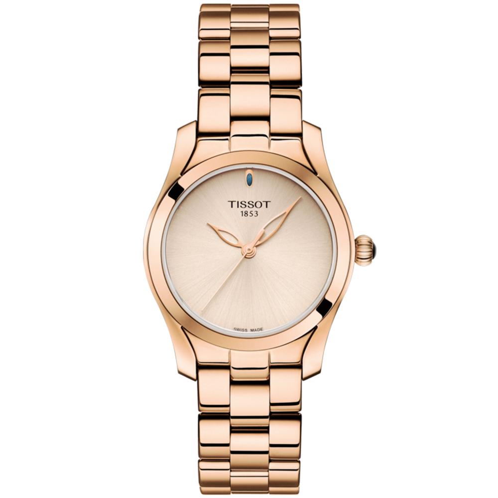 447ebaaa53c8 T-Wave 30mm Rose Gold PVD   Sunray Cream Dial Bracelet Watch