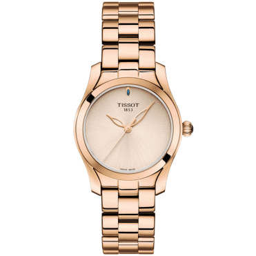 T-Wave 30mm Rose Gold PVD & Sunray Cream Dial Bracelet Watch
