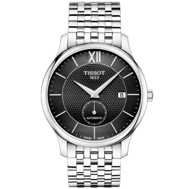 Tradition Small Seconds 40mm Black Dial Men's Bracelet Watch