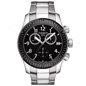 tissot couturier stainless steel black dial men s watch tissot v8 42 5mm black dial bezel men s bracelet watch