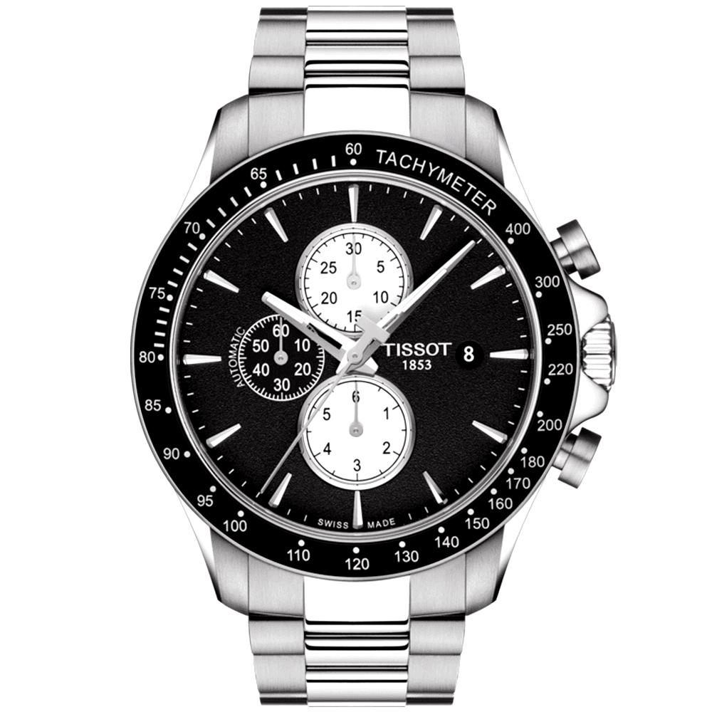 ef3a2122c364 Tissot Tissot V8 45mm Black Dial   Bezel Men s Automatic Chronograph Watch