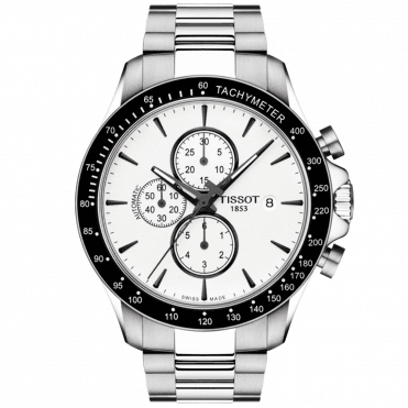 V8 45mm Black Dial & Bezel Men's Automatic Chronograph Watch