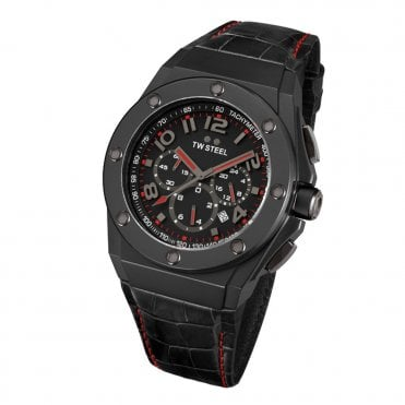 CEO Tech Black PVD & Red Men's Chronograph Watch