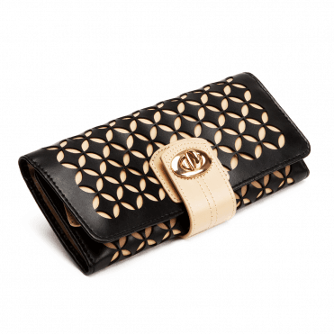 Chloe Black Patterned Leather Jewellery Roll