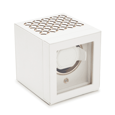 Chloe Cream Patterned Leather Single Watch Winder