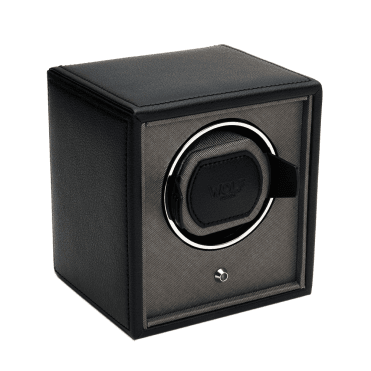 Cub Black and Grey Leather Single Watch Winder