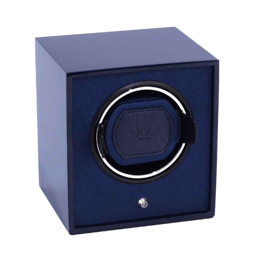 wolf 1834 cub blue lacquered single watch winder