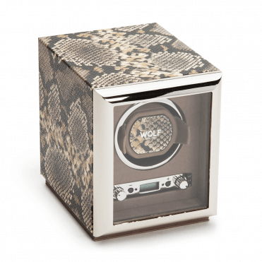 Exotic Python-Embossed Leather Single Watch Winder