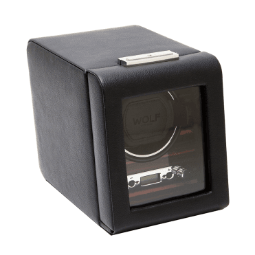 Roadster Black Leather Single Watch Winder